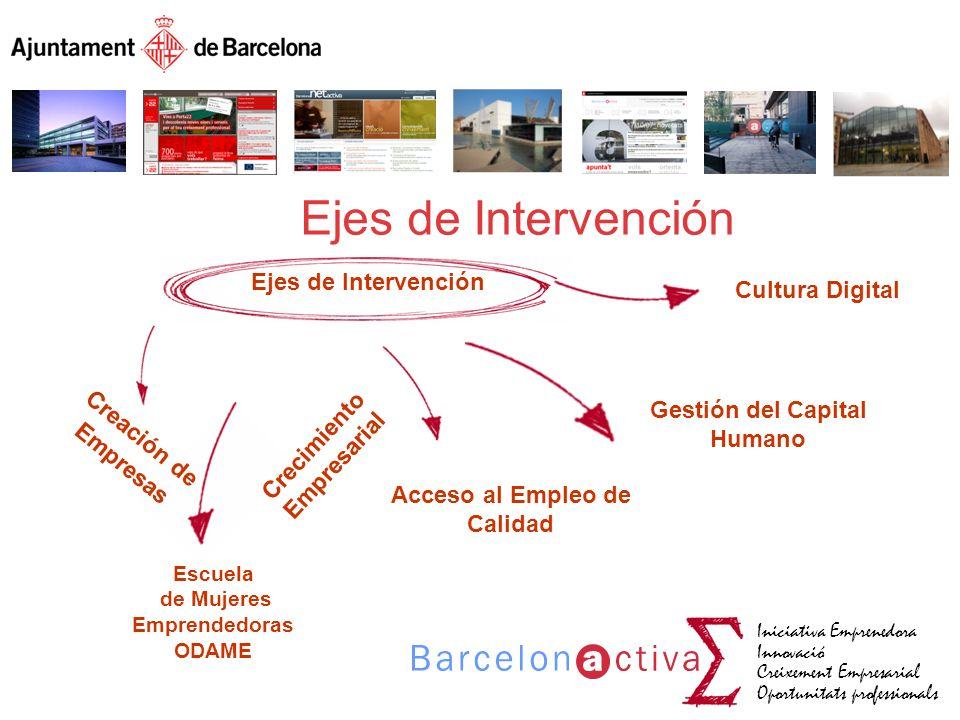 Ejes de Intervención Cultura Digital Gestión del Capital Humano