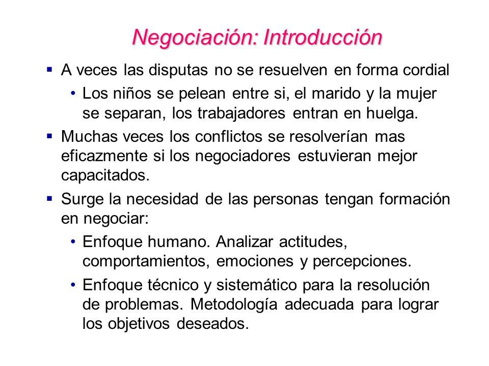 Negociación: Introducción
