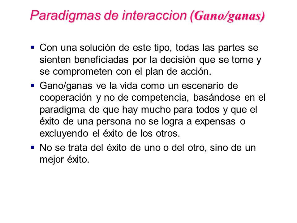 Paradigmas de interaccion (Gano/ganas)