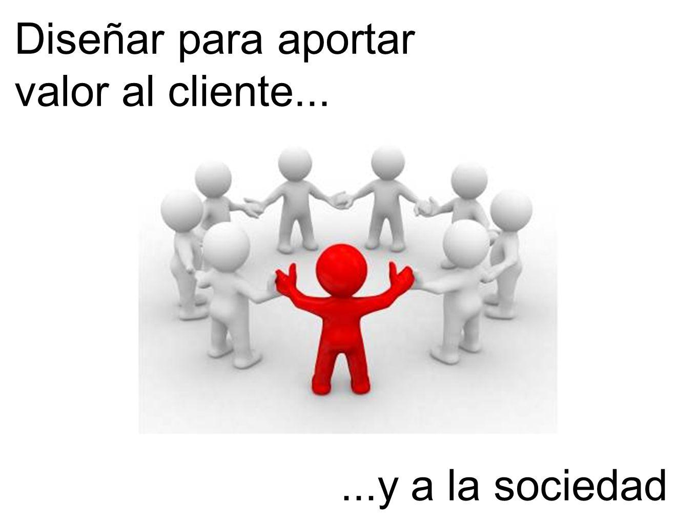 Diseñar para aportar valor al cliente...