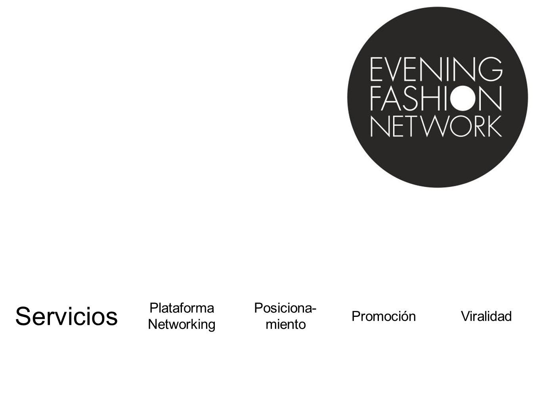 Servicios Plataforma Networking Posiciona- miento Promoción Viralidad
