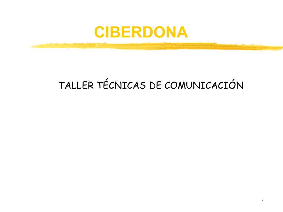 TALLER TÉCNICAS DE COMUNICACIÓN
