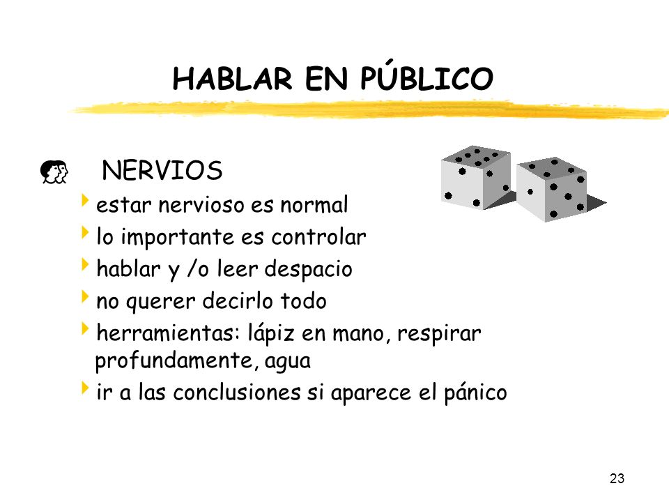 HABLAR EN PÚBLICO NERVIOS estar nervioso es normal