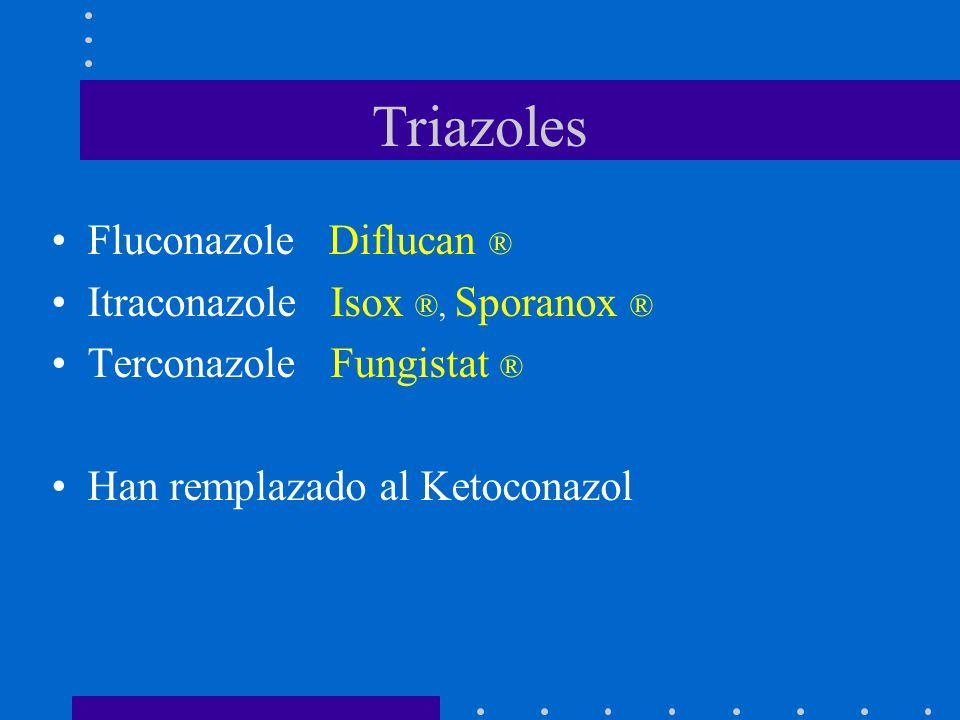 Triazoles Fluconazole Diflucan ® Itraconazole Isox ®, Sporanox ®