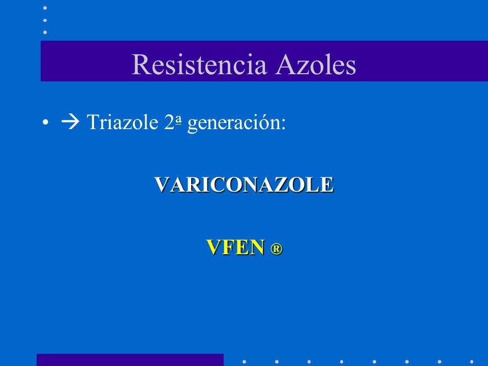 Resistencia Azoles  Triazole 2a generación: VARICONAZOLE VFEN ®
