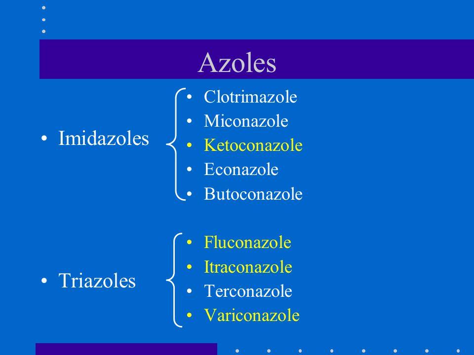 Azoles Imidazoles Triazoles Clotrimazole Miconazole Ketoconazole