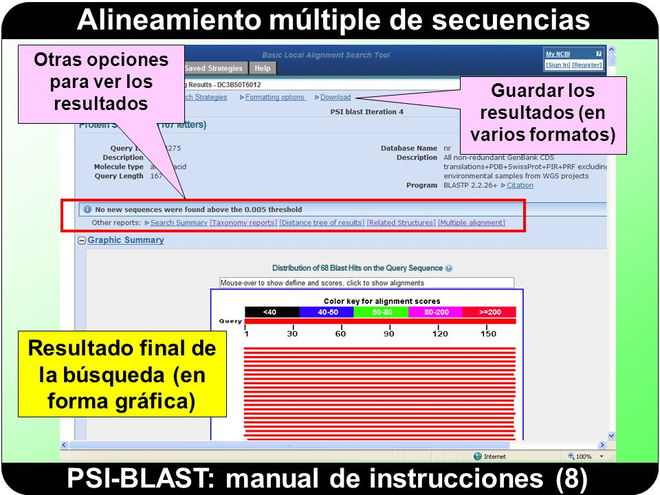 PSI-BLAST: manual de instrucciones (8)
