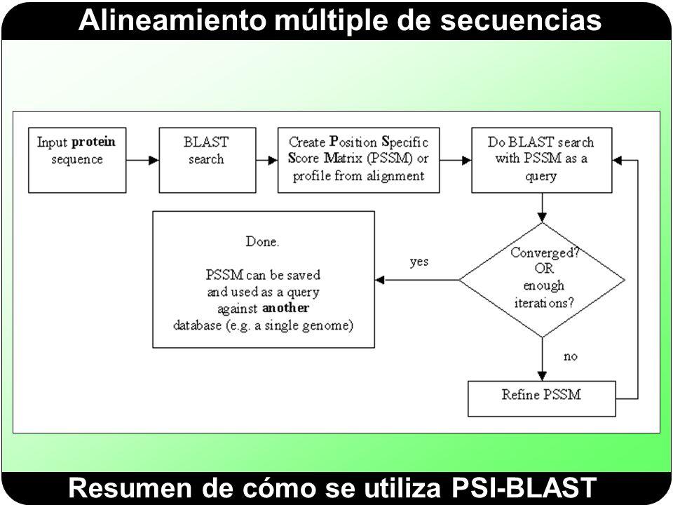 Resumen de cómo se utiliza PSI-BLAST