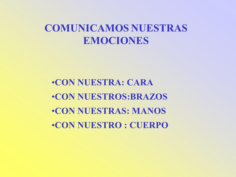 COMUNICAMOS NUESTRAS EMOCIONES