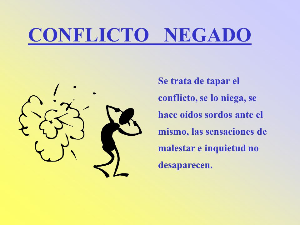 CONFLICTO NEGADO