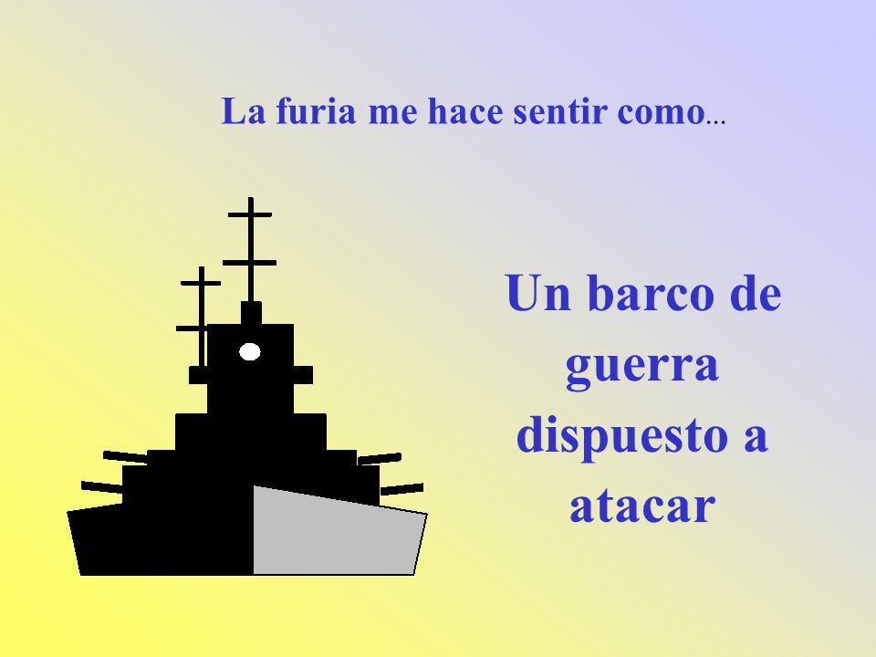 Un barco de guerra dispuesto a atacar