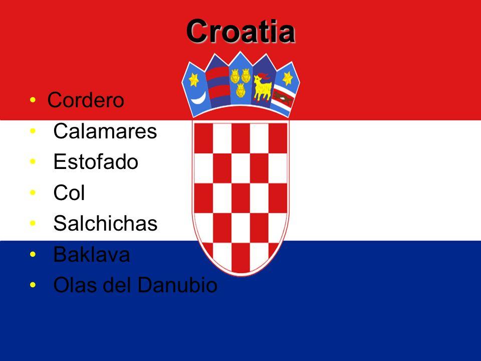 Croatia Cordero Calamares Estofado Col Salchichas Baklava