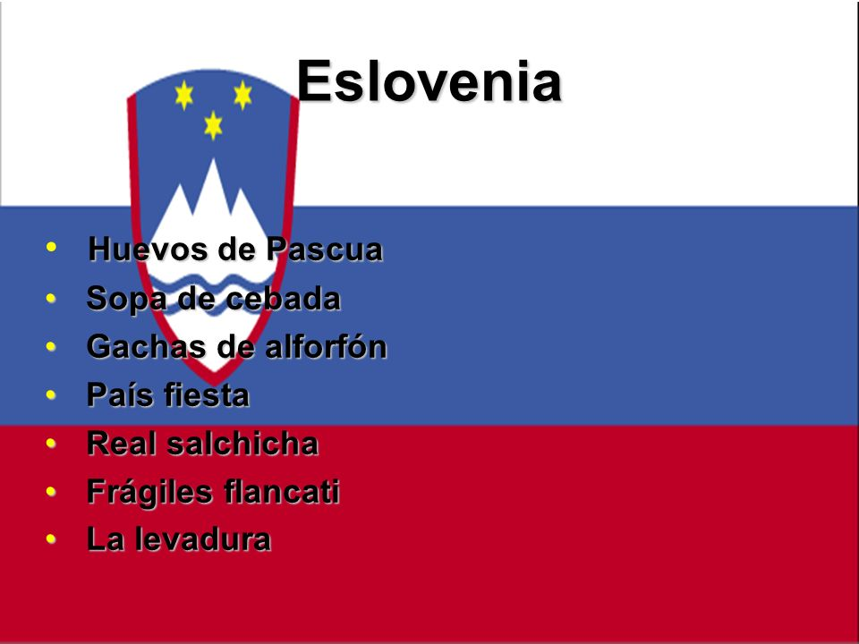 Eslovenia Huevos de Pascua Sopa de cebada Gachas de alforfón