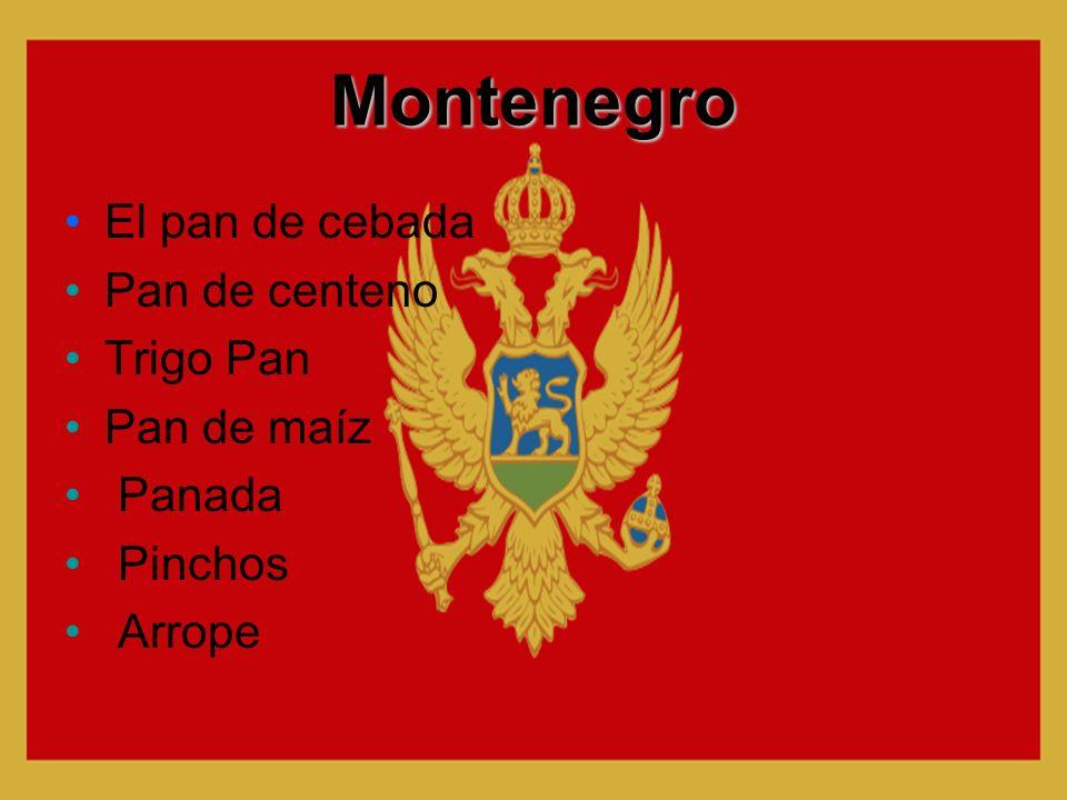 Montenegro El pan de cebada Pan de centeno Trigo Pan Pan de maíz