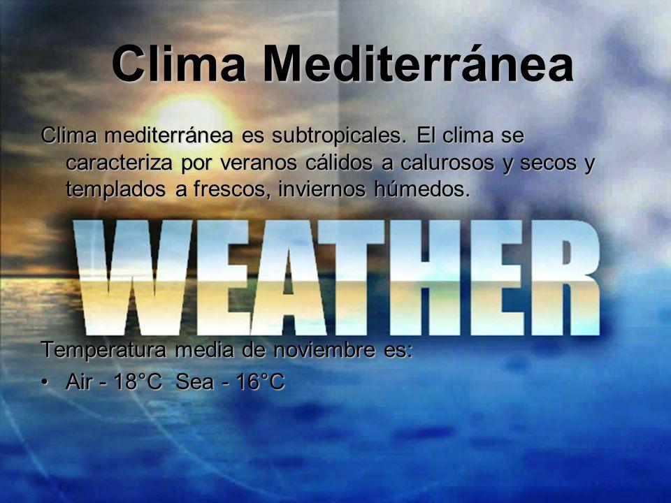 Clima Mediterránea