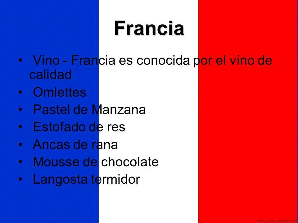 Francia Vino - Francia es conocida por el vino de calidad Omlettes