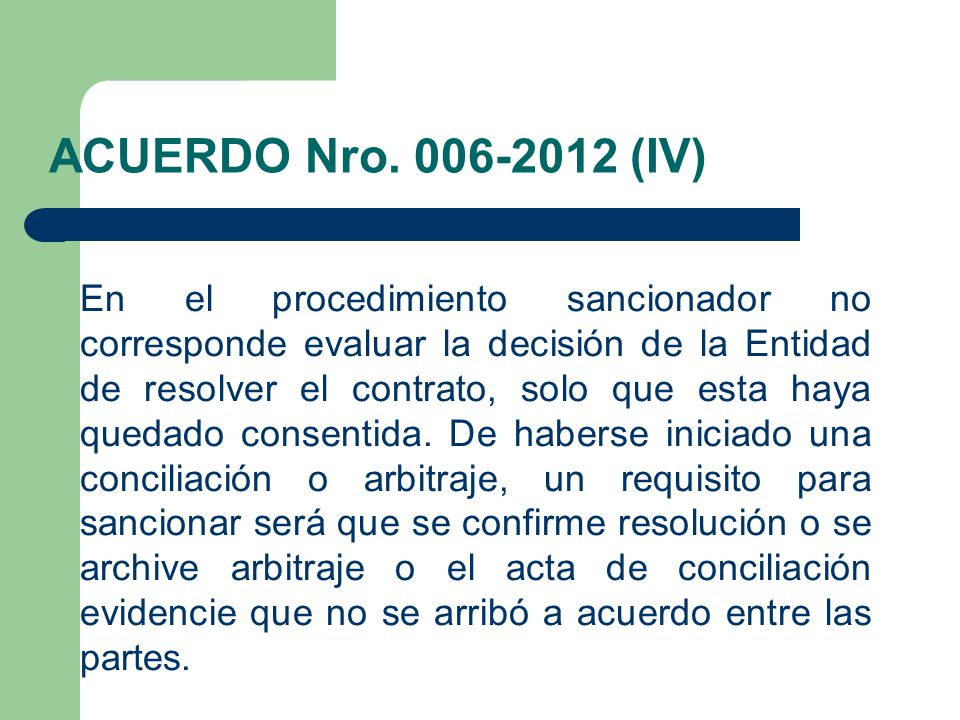 ACUERDO Nro. 006-2012 (IV)