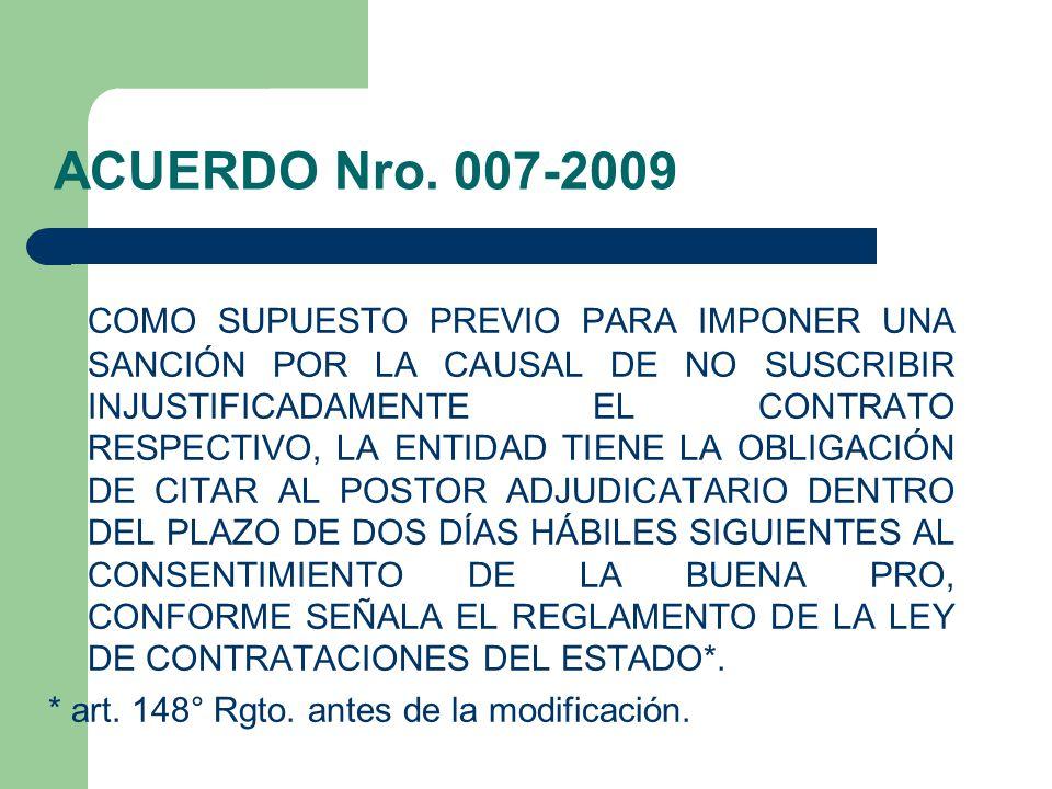 ACUERDO Nro. 007-2009