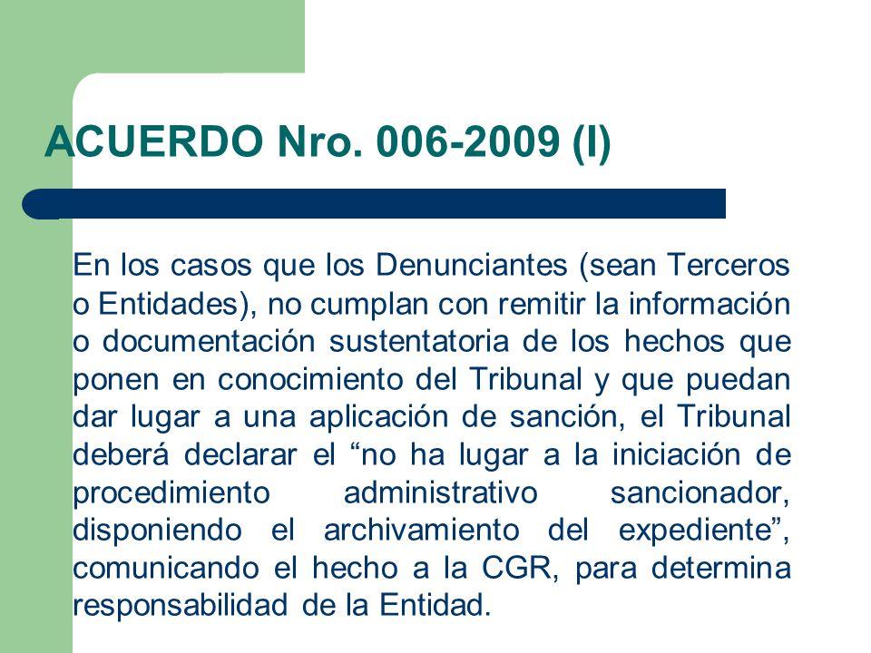 ACUERDO Nro. 006-2009 (I)