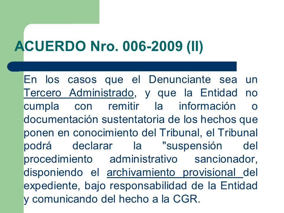 ACUERDO Nro. 006-2009 (II)