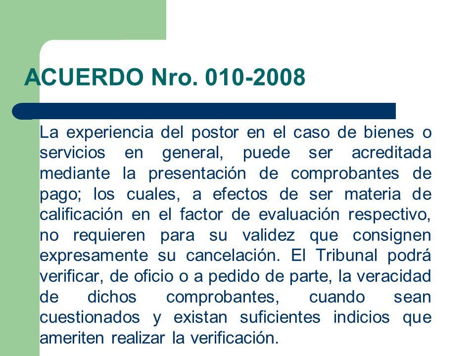 ACUERDO Nro. 010-2008