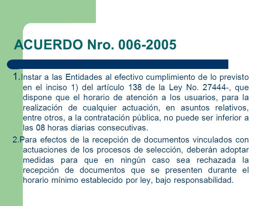ACUERDO Nro. 006-2005