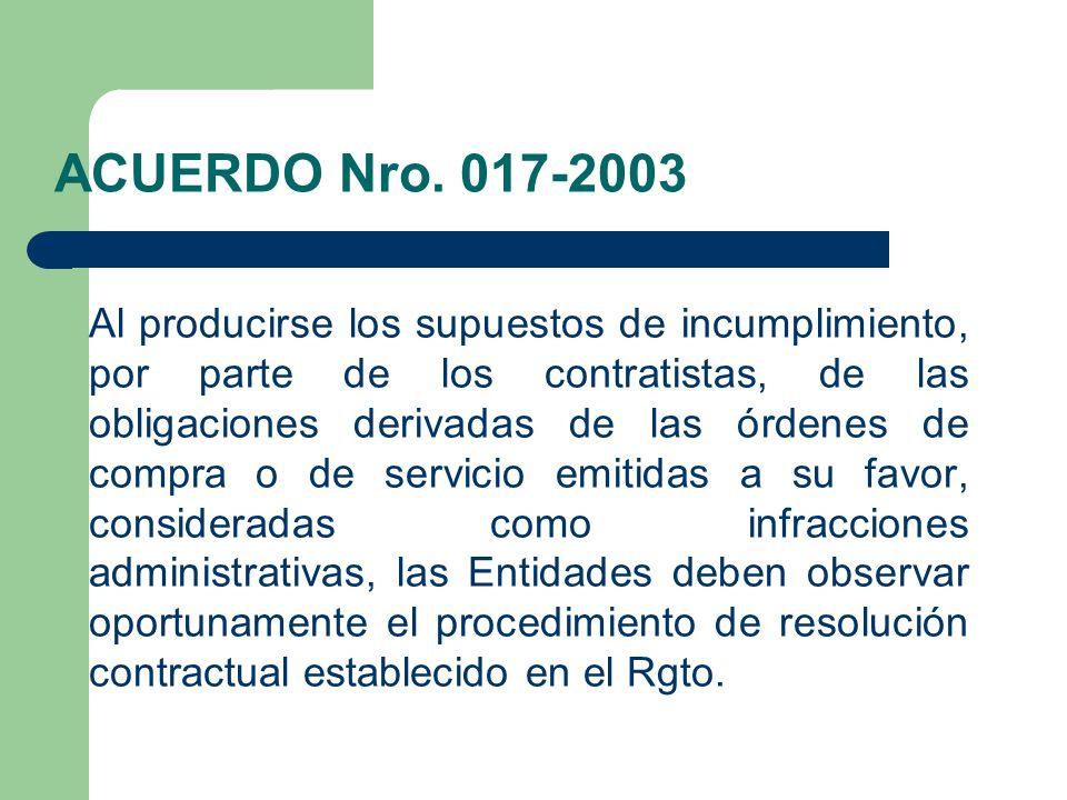 ACUERDO Nro. 017-2003