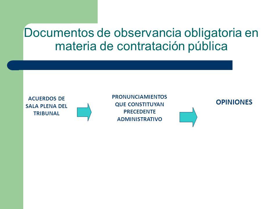 PRONUNCIAMIENTOS QUE CONSTITUYAN PRECEDENTE ADMINISTRATIVO