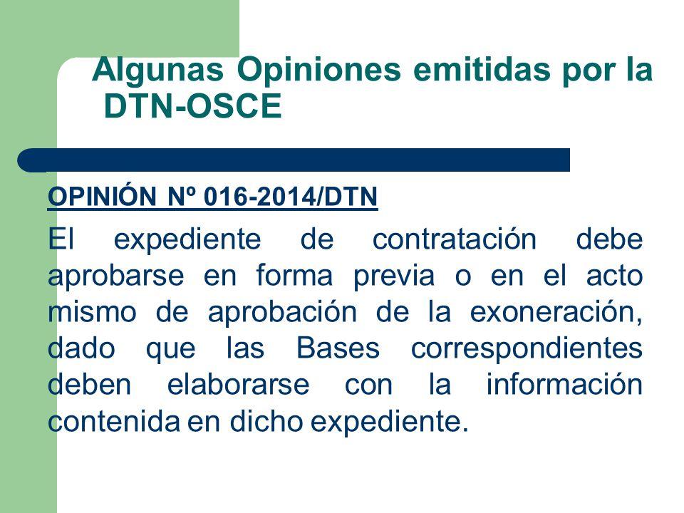 Algunas Opiniones emitidas por la DTN-OSCE
