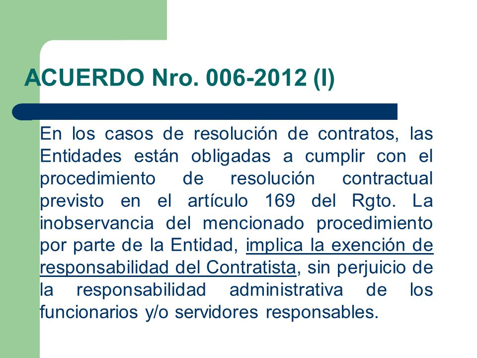 ACUERDO Nro. 006-2012 (I)