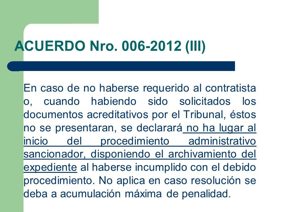 ACUERDO Nro. 006-2012 (III)
