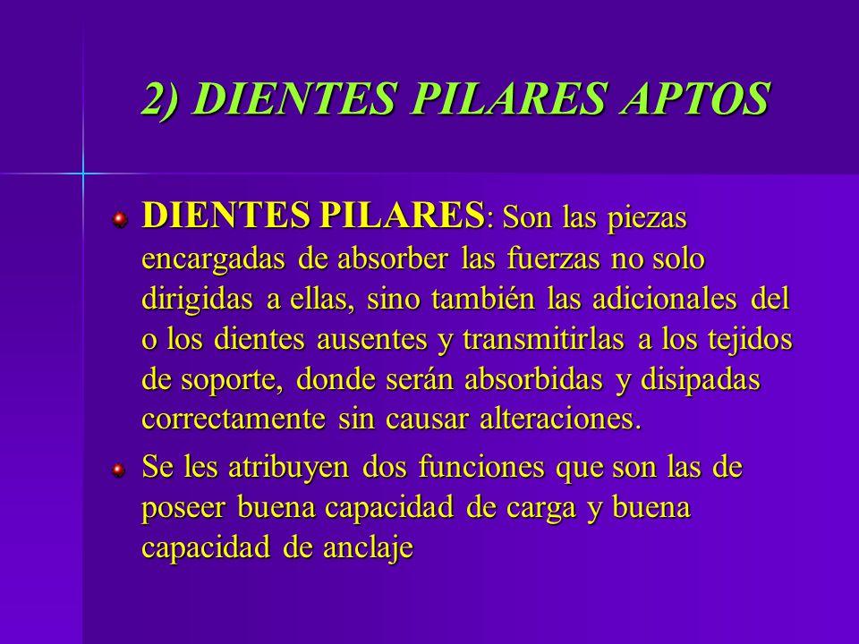 2) DIENTES PILARES APTOS