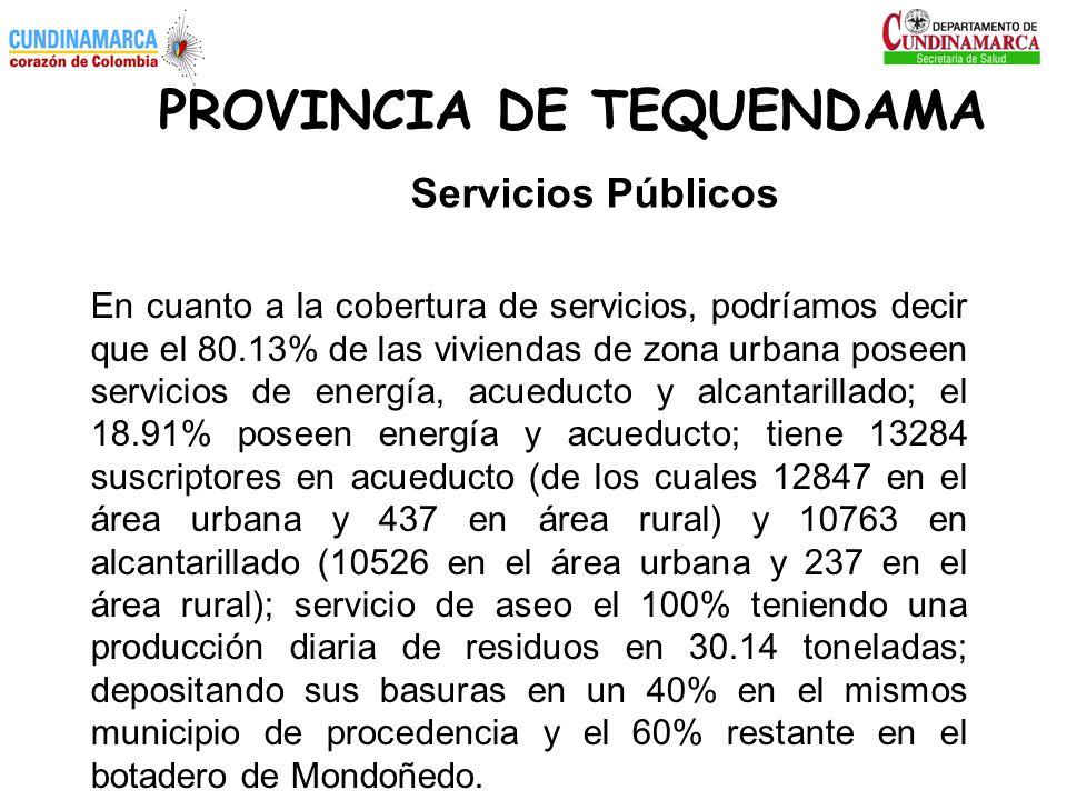 PROVINCIA DE TEQUENDAMA