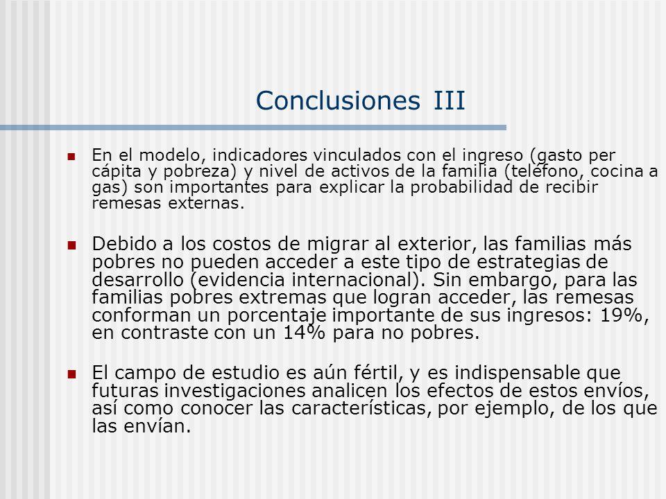 Conclusiones III
