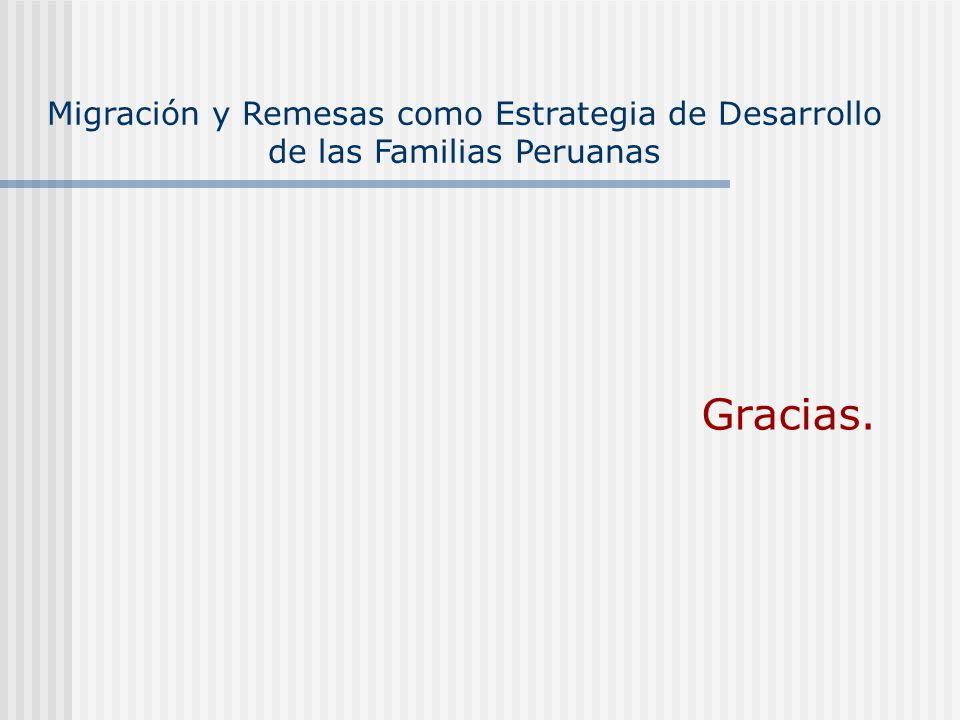Migración y Remesas como Estrategia de Desarrollo de las Familias Peruanas