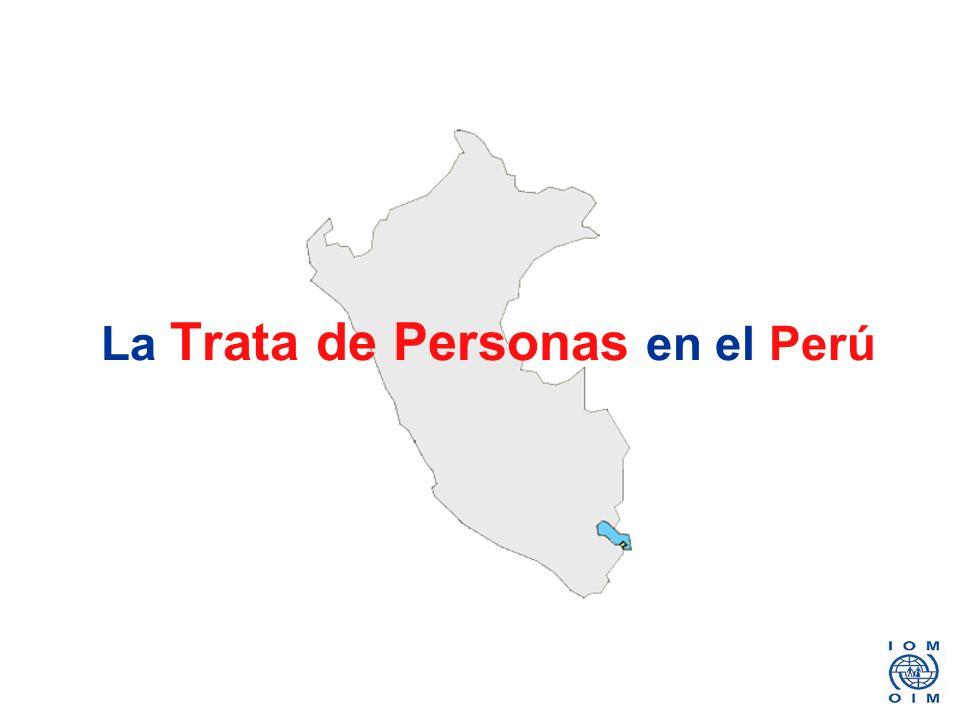 La Trata de Personas en el Perú