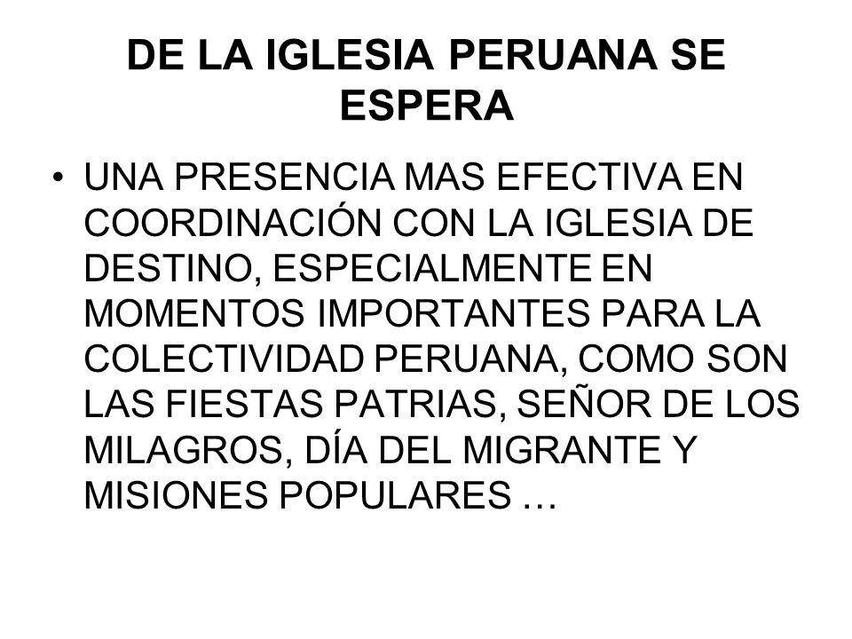 DE LA IGLESIA PERUANA SE ESPERA