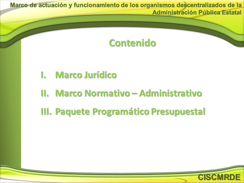 Contenido Marco Jurídico Marco Normativo – Administrativo