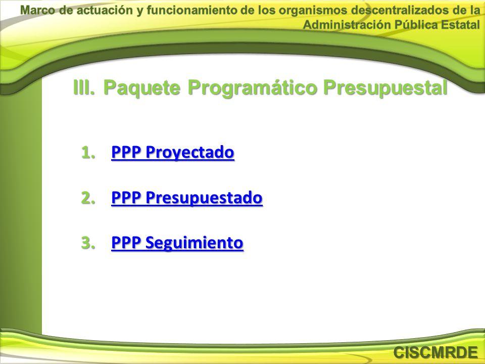 Paquete Programático Presupuestal