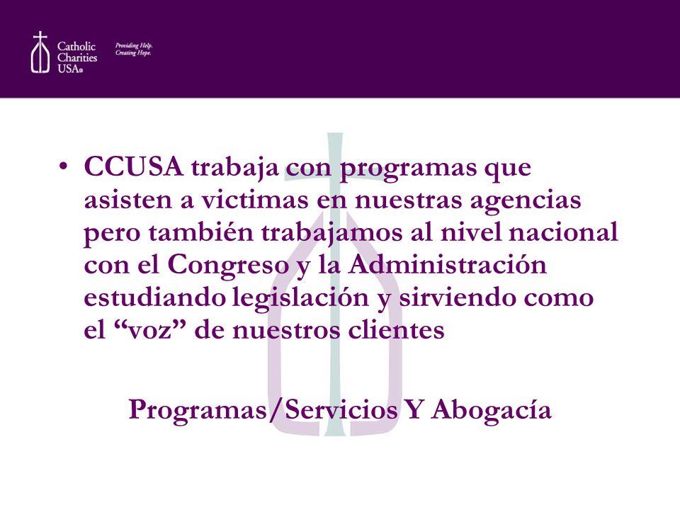 Programas/Servicios Y Abogacía