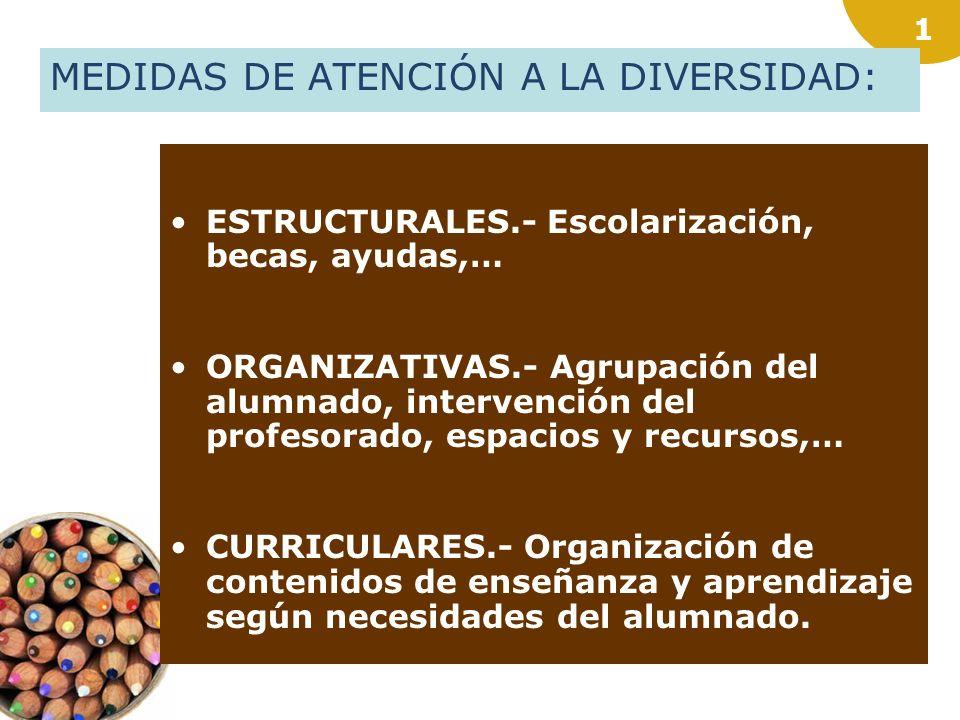MEDIDAS DE ATENCIÓN A LA DIVERSIDAD: