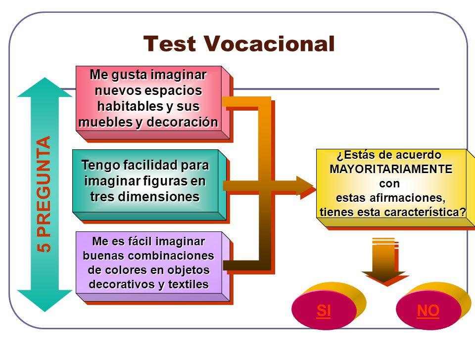 Test Vocacional 5 PREGUNTA SI NO