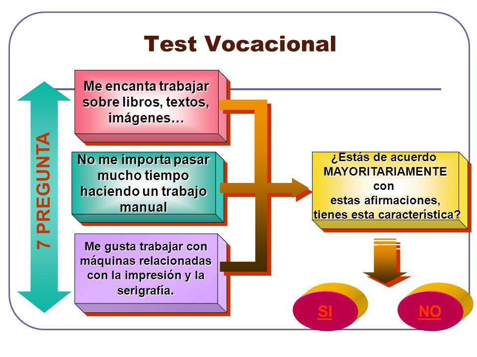 Test Vocacional 7 PREGUNTA SI NO