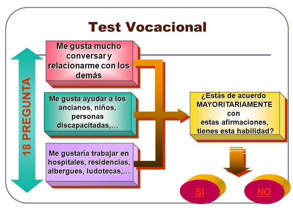 Test Vocacional 18 PREGUNTA SI NO