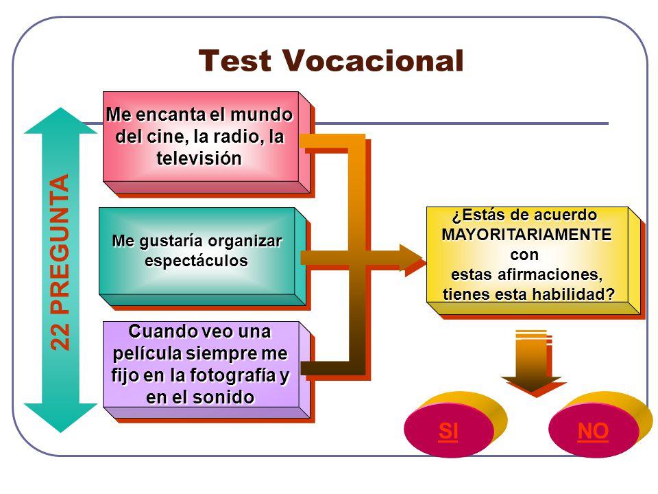 Test Vocacional 22 PREGUNTA SI NO