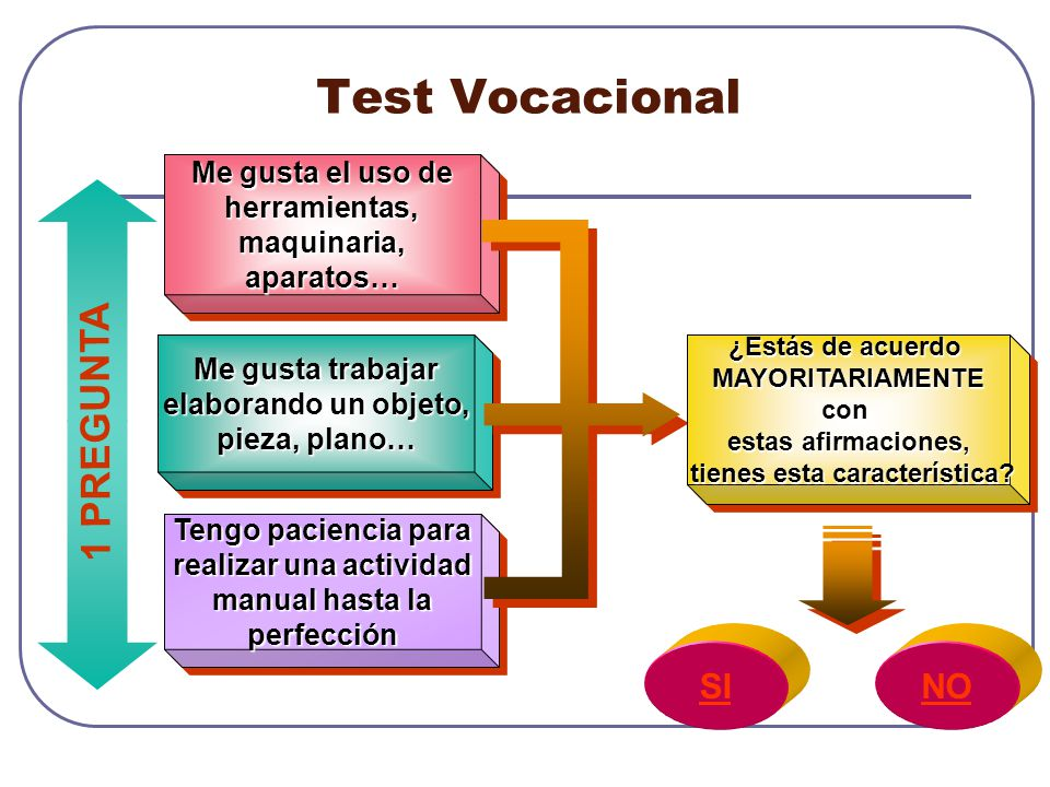Test Vocacional 1 PREGUNTA SI NO