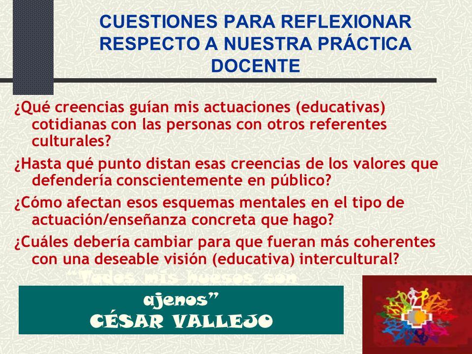 CUESTIONES PARA REFLEXIONAR RESPECTO A NUESTRA PRÁCTICA DOCENTE