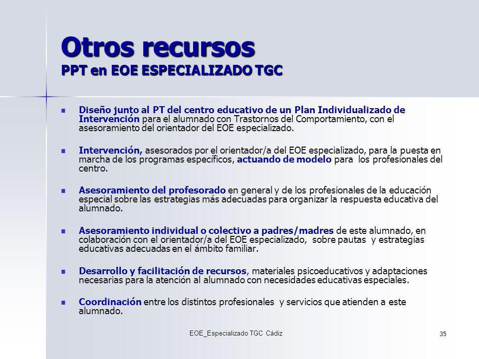 Otros recursos PPT en EOE ESPECIALIZADO TGC