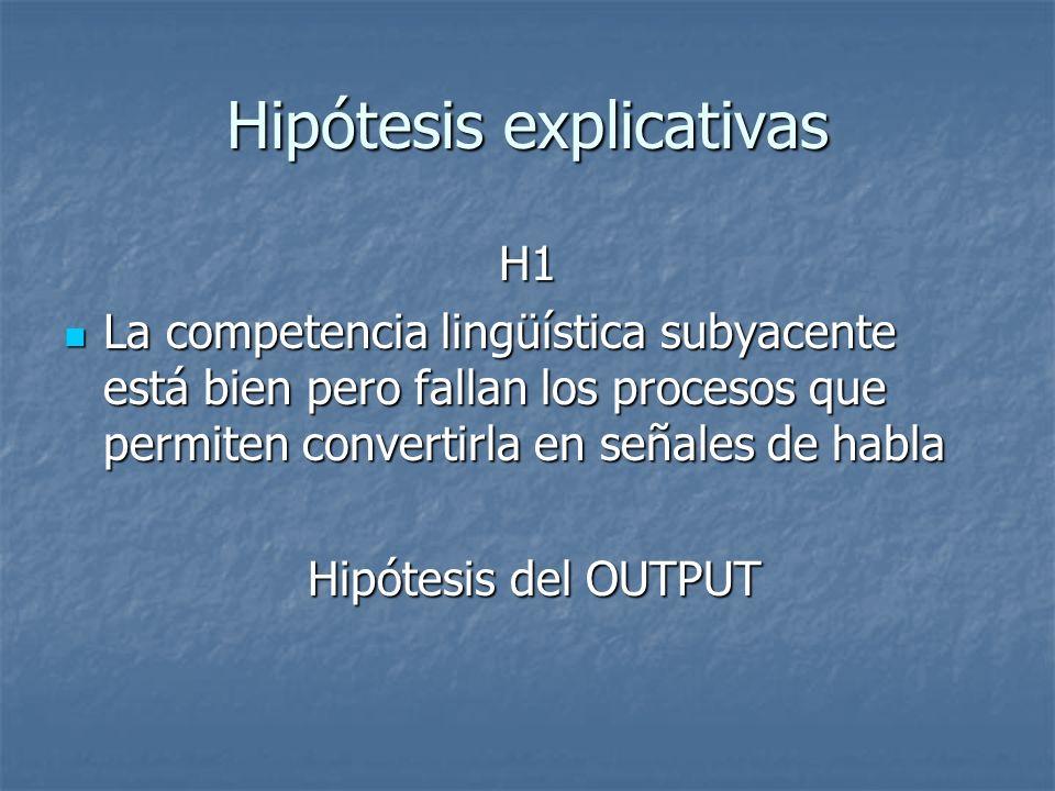 Hipótesis explicativas