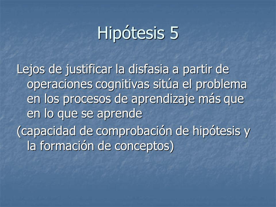 Hipótesis 5
